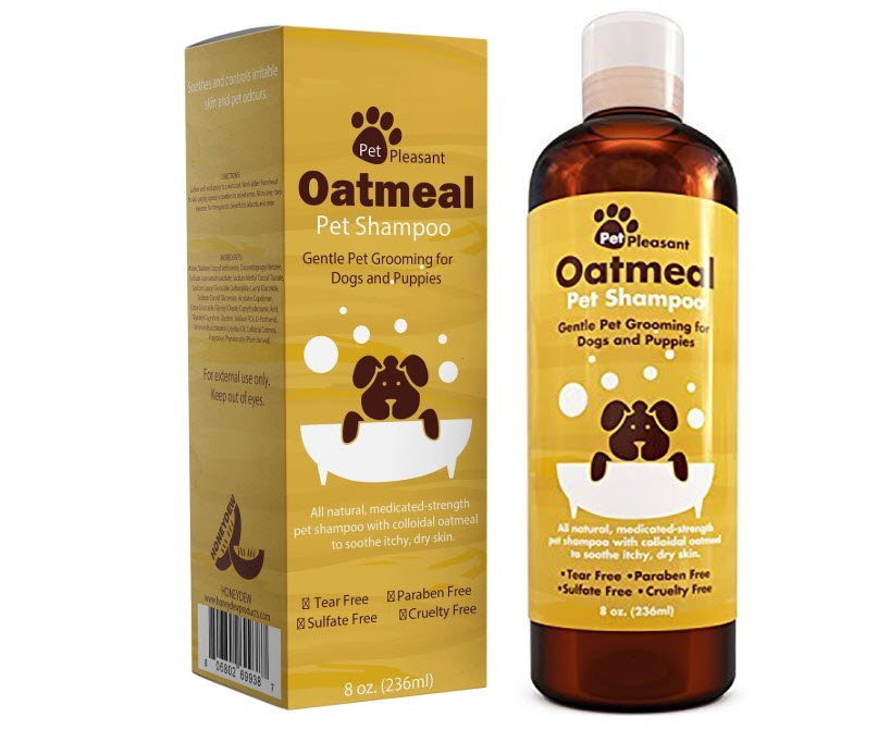 BOOCOSA Honeydew Oatmeal Pet Shampoo for Dogs