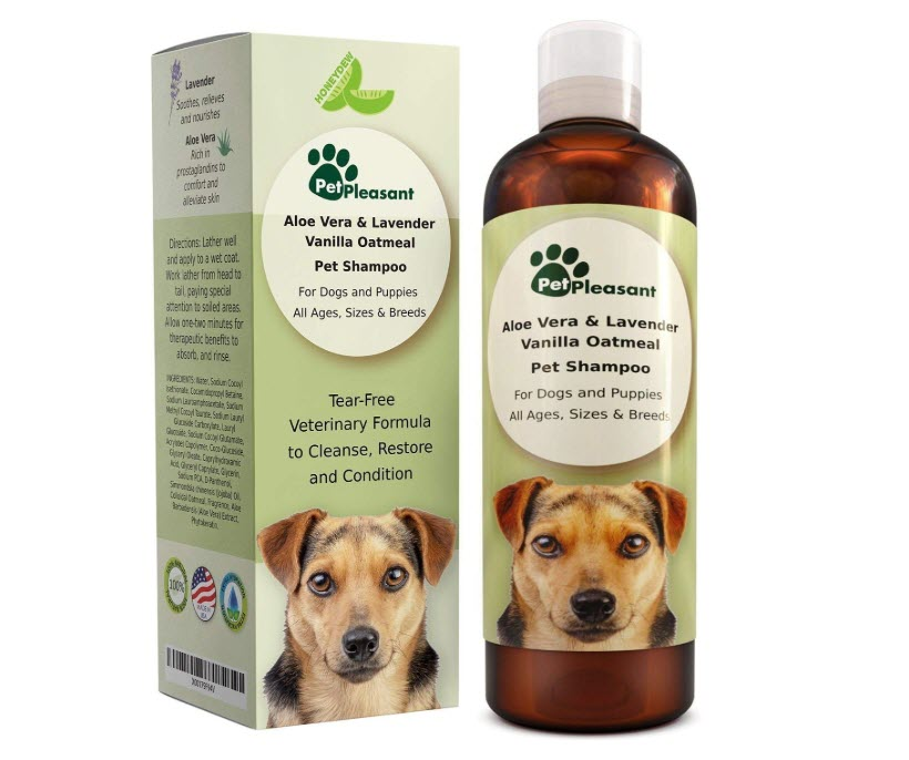 Vanilla Oatmeal Dog Shampoo with Aloe Vera