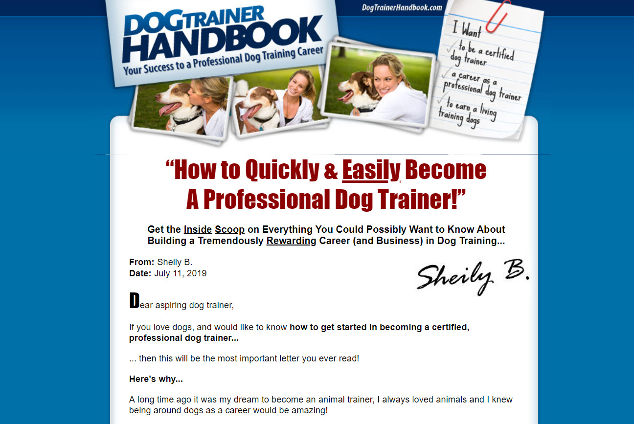 The Dog Trainers Handbook